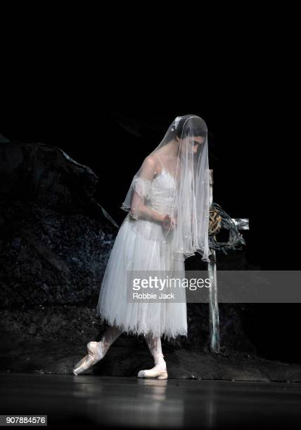 Yasmine Naghdi as Giselle in the Royal Ballet's production of Peter Wright's adaptation of Marius Petipa's Giselle at The Royal Opera House on...