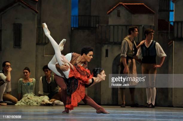 Yasmine Naghdi as Kitri and Marcelino Sambe as Basilio inThe Royal Ballet's production of Carlos Acosta's adaptation of Marius Petipa's Don Quixote...
