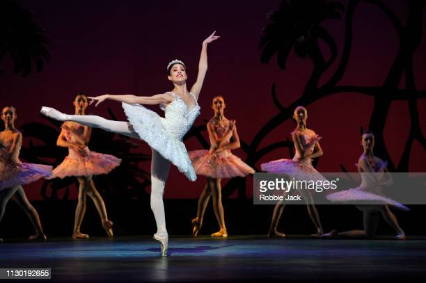 Yasmine Naghdi as Kitri with artists of the company in The Royal Ballet's production of Carlos Acosta's adaptation of Marius Petipa's Don Quixote at...