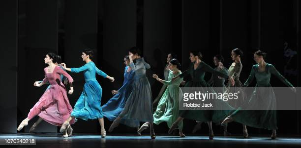 Yasmine Naghdi with artists of the company in The Royal Ballet'u2019s production of Alastair Marriott'u2019s The Unknown Soldier at The Royal Opera...