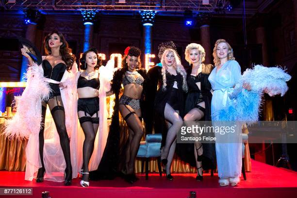 Yasmine Petty Anna Zand Gia Laws Emily Elicia Low and models attend the Alcone Company 65th Anniversary Gala at Capitale on November 10 2017 in New...