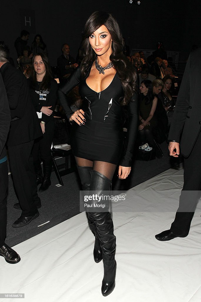 Yasmine Petty attends Falguni & Shane Peacock during Fall 2013 Mercedes-Benz Fashion Week at The Studio at Lincoln Center on February 13, 2013 in New York City.