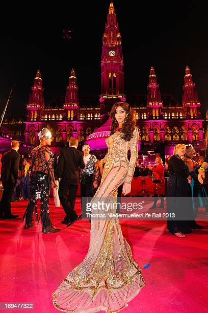 Yasmine Petty attends the 'Life Ball 2013 Magenta Carpet Arrivals' at City Hall on May 25 2013 in Vienna Austria