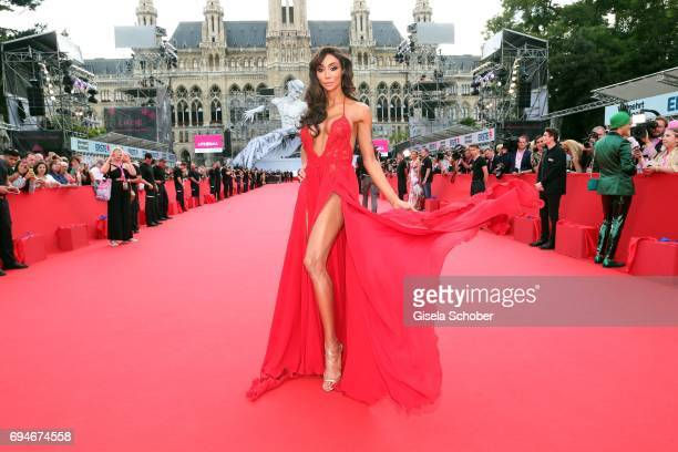 Yasmine Petty during the Life Ball 2017 at City Hall on June 10 2017 in Vienna Austria