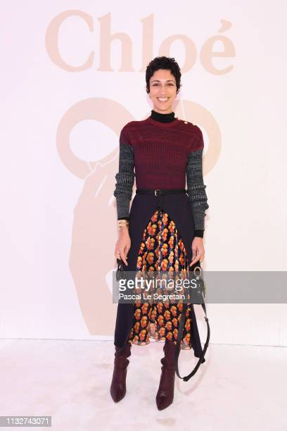 Yasmine Sewell attends the Chloe show as part of the Paris Fashion Week Womenswear Fall/Winter 2019/2020 on February 28 2019 in Paris France