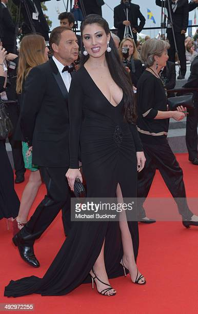 Yasmine Tordjman and Eric Besson attend the 'Jimmy's Hall' premiere during the 67th Annual Cannes Film Festival on May 22 2014 in Cannes France