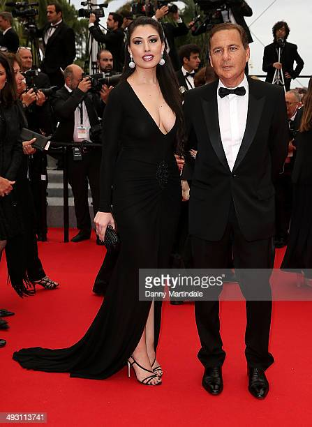 Yasmine Tordjman and Eric Besson attends the 'Jimmy's Hall' Premiere at the 67th Annual Cannes Film Festival on May 22 2014 in Cannes France