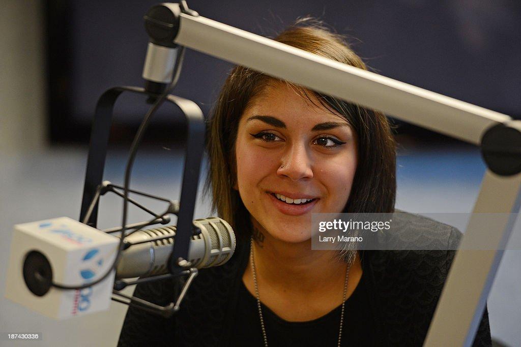 Yasmine Yousaf of Krewella visits Y 100 radio station on November 8, 2013 in Miami, Florida.