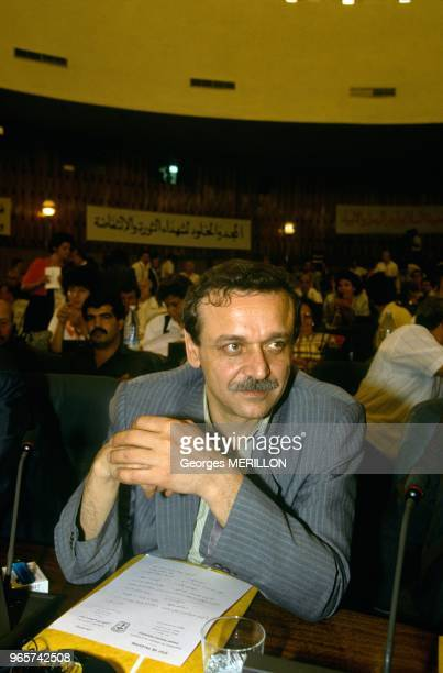Yasser Abd Rabbo Leader Of The Democratic Front For Liberation Palestine Attends Palestinian