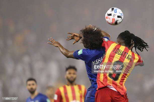 Yasser Alshahrani of Al Hilal and Ibrahim Ouattara of Esperance Sportive de Tunis during the FIFA Club World Cup 2nd round match between Al Hilal and...
