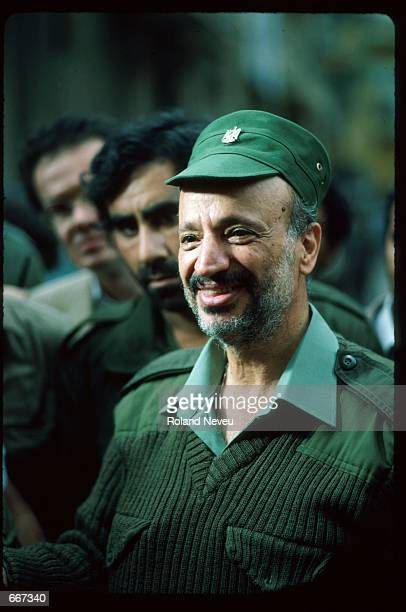 Yasser Arafat speaks November 7 1983 in Tripoli Lebanon After receiving the Nobel Peace Prize in 1994 Palestine Liberation Organization leader Yasser...