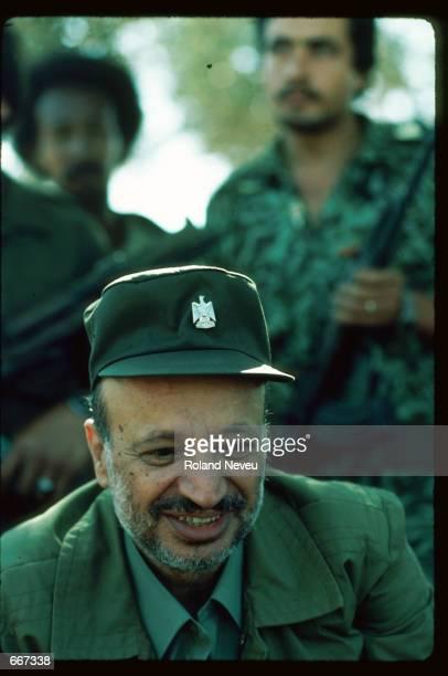Yasser Arafat speaks October 10 1983 in Tripoli Lebanon After receiving the Nobel Peace Prize in 1994 Palestine Liberation Organization leader Yasser...