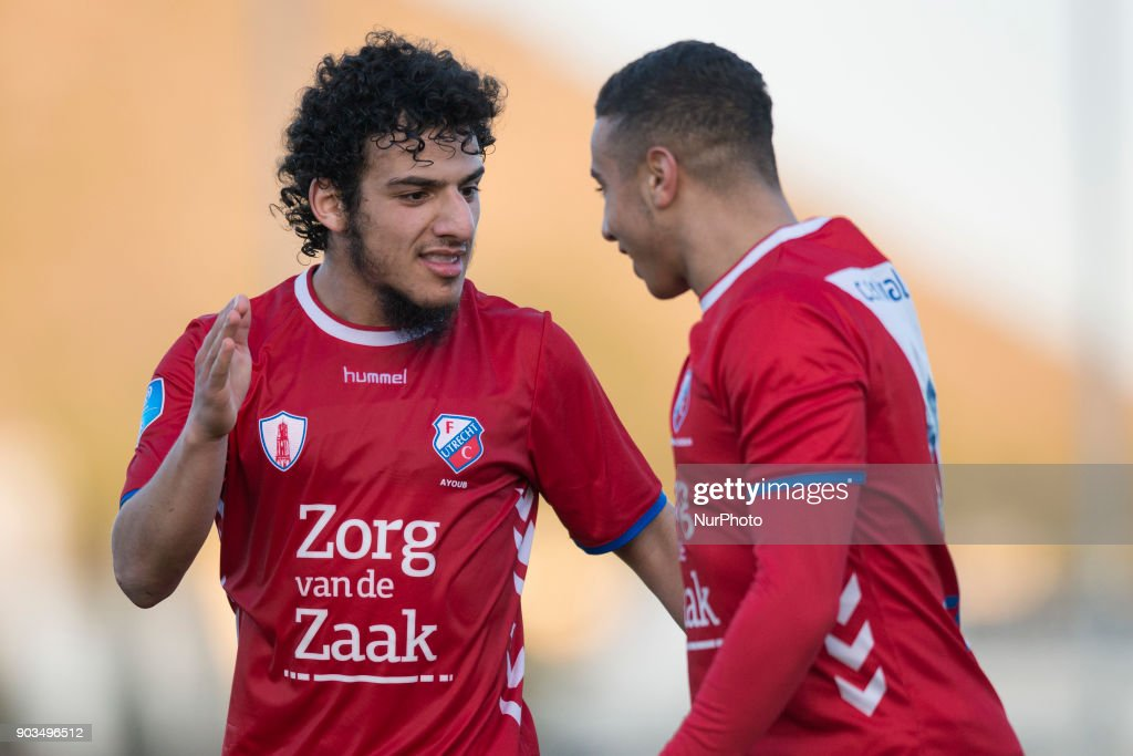 Yassin Ayoub, Bilal Ould-Chikh during the friendly match between FC Utrecht vs. RSC Anderlecht at La Manga Club, Murcia, SPAIN. 10th January of 2018.