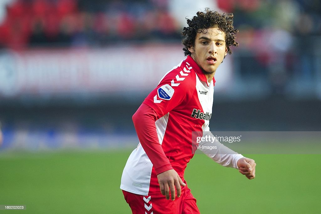 Yassin Ayoub of FC Utrecht during the Dutch Eredivise match between FC Utrecht and Willem II at the Galgenwaard Stadium on January 27, 2013 in Utrecht, The Netherlands.
