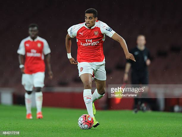 Yassin Fortune of Arsenal during the Barclays U21 match between Arsenal and Fulham at Emirates Stadium on August 14 2015 in London England
