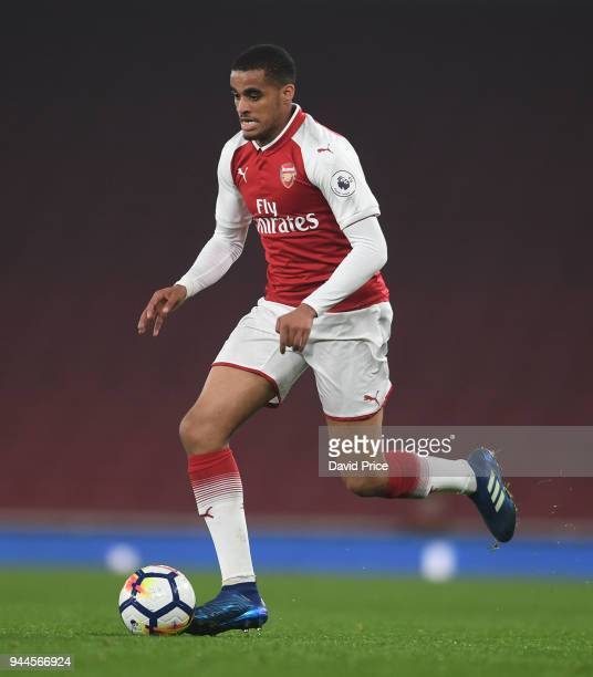 Yassin Fortune of Arsenal during the match between Arsenal U23 and Villarreal U23 at Emirates Stadium on April 10 2018 in London England
