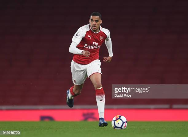 Yassin Fortune of Arsenal during the match between Arsenal U23 and Swansea U23 at Emirates Stadium on April 13 2018 in London England