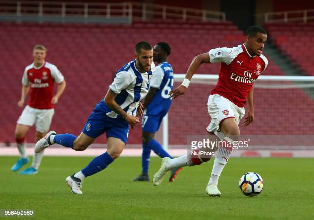 Yassin Fortune of Arsenal U23s during Premier League International Cup Final match between Arsenal Under 23 against Porto FC at Emirates stadium...