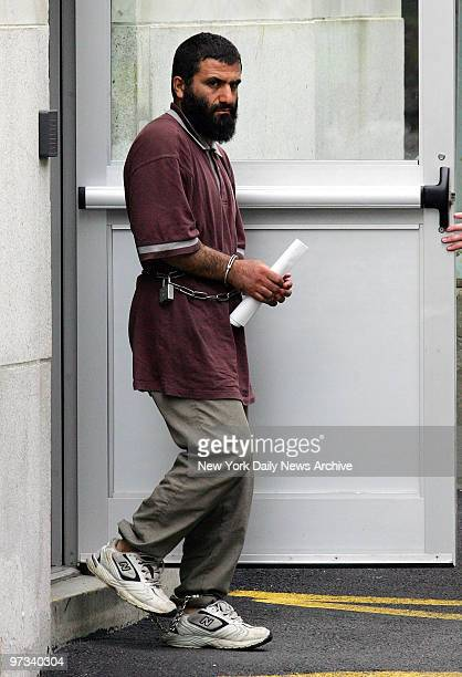 Yassin Muhiddin Aref leaves federal court in Albany after his arraignment on charges of helping to launder money in a purported plot to sell a...
