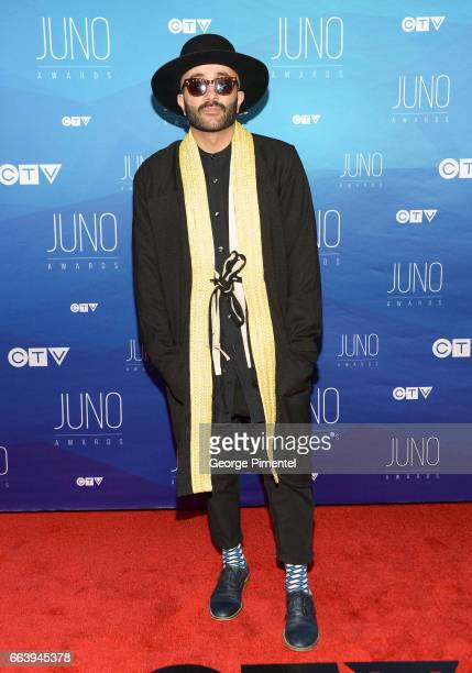 Yassin 'Narcy' Alsalman arrives at the 2017 Juno Awards at Canadian Tire Centre on April 2 2017 in Ottawa Canada