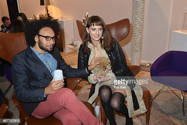 Yassine Azzouz and Federique Bel attend the 'Diamond Night by Divinescence Vendome' Harumi Klossowska Jewellery Exhibition Preview As Part Of Art...