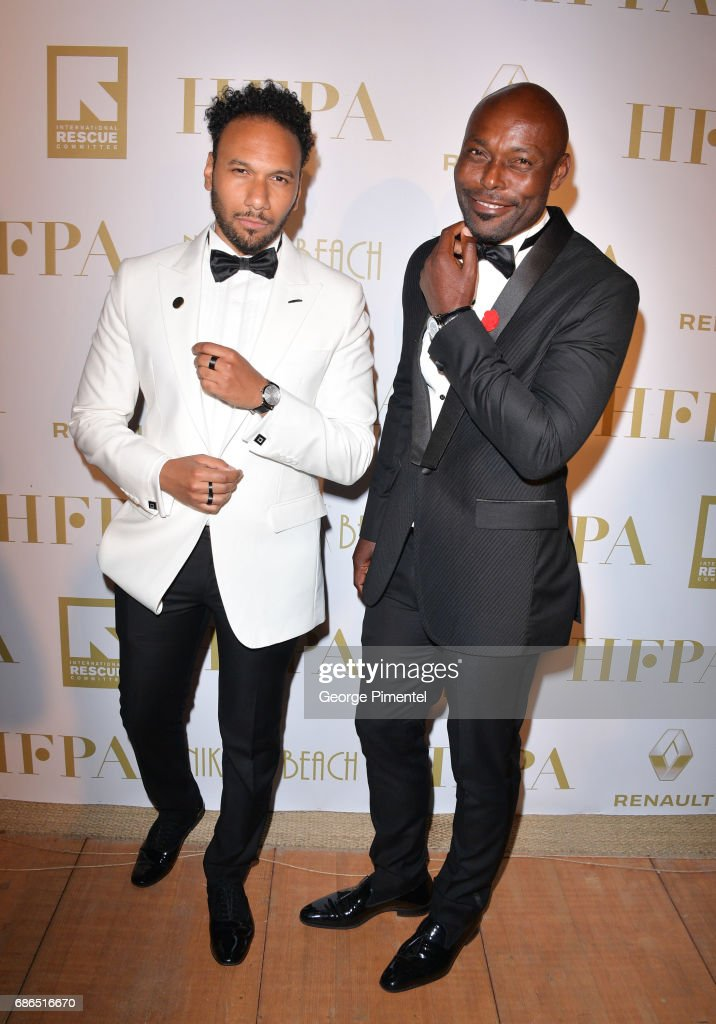 Yassine Azzouz and Jimmy Jean-Louis attend the Hollywood Foreign Press Association's 2017 Cannes Film Festival Event in honour of the International Rescue Committee during the 70th Annual Cannes Film Festival on May 21, 2017 in Cannes, France.