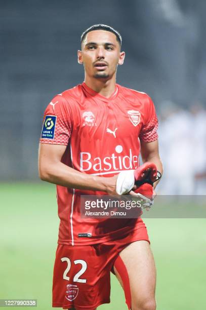 Yassine BENRAHOU of Nimes during the friendly match between Nimes and Marseille on August 9, 2020 in Nimes, France.