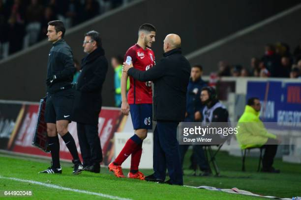 Yassine BENZIA / Frederic ANTONETTI Lille / Saint Etienne 16eme journee de Ligue 1 Photo Dave Winter / Icon Sport