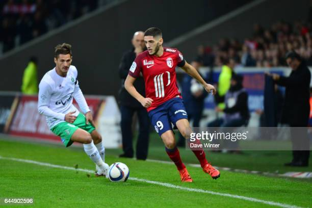 Yassine BENZIA / Jeremy CLEMENT Lille / Saint Etienne 16eme journee de Ligue 1 Photo Dave Winter / Icon Sport