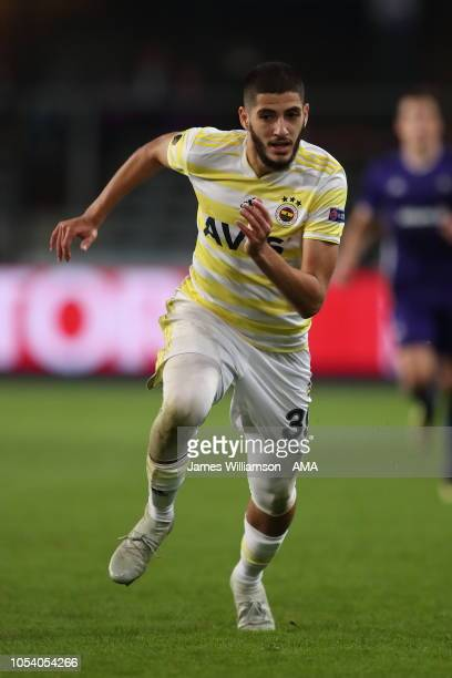 Yassine Benzia of Fenerbahce during the UEFA Europa League Group D match between RSC Anderlecht and Fenerbahce at Constant Vanden Stock Stadium on...