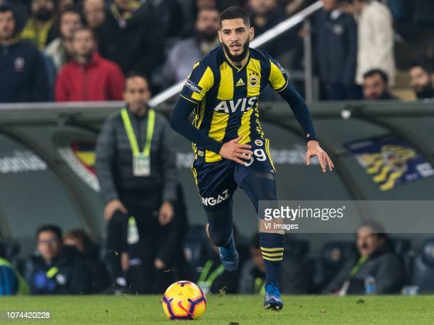 Yassine Benzia of Fenerbahce SK during the Turkish Spor Toto Super Lig match Fenerbahce AS and Buyuksehir Belediye Erzurumspor at the Sukru Saracoglu...
