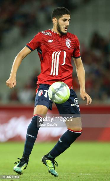 Yassine Benzia of Lille during the preseason friendly match between Lille OSC and Stade Rennais FC at Stade Pierre Mauroy on July 29 2017 in Lille...