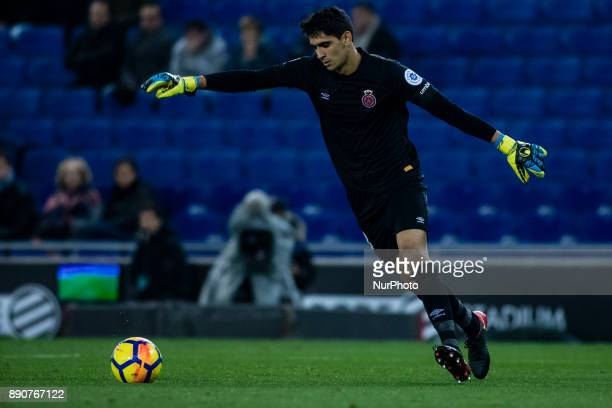 13 Yassine Bono from Morocco of Girona FC during the La Liga match between RCD Espanyol v Girona FC at RCD Stadium on December 11 2017 in Barcelona...