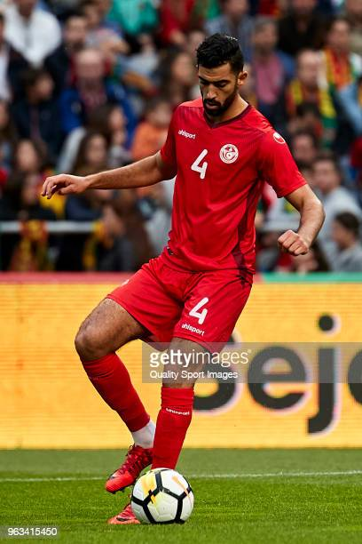Yassine Meriah of Tunisia in action during the friendly match of preparation for FIFA 2018 World Cup between Portugal and Tunisia at the Estadio AXA...