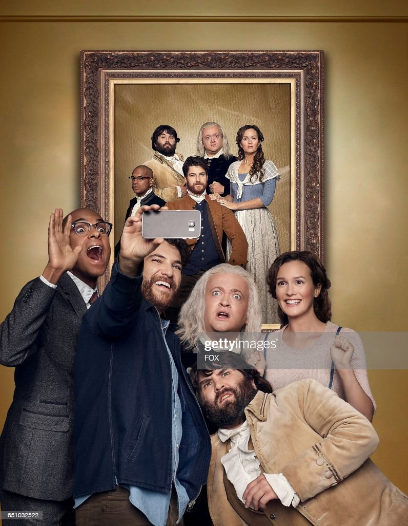 Yassir Lester, Adam Pally, Neil Casey, John Gemberling and Leighton Meester in MAKING HISTORY premiering Sunday, March 5 (8:30-9:00 PM ET/PT) on FOX.