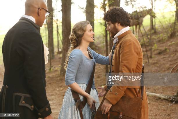 Yassir Lester Leighton Meester and Adam Pally in the series premiere of MAKING HISTORY airing Sunday March 5 on FOX