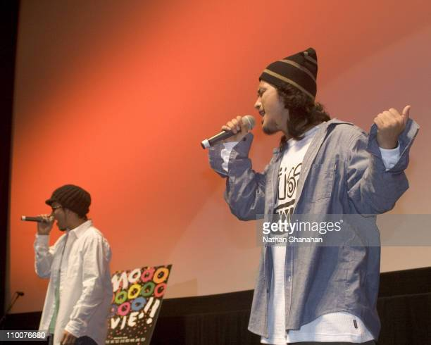 """Yasu and Yu from D-51 during 18th Tokyo International Film Festival - """"Always - Sunset on Third Street"""" Stage Greeting at Toho Virgin Cinema in..."""