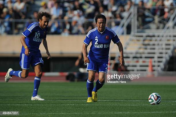Yasuhiko Okudera in action during the Sayonara National Stadium event at National Stadium on May 31 2014 in Tokyo Japan The National Stadium in Tokyo...