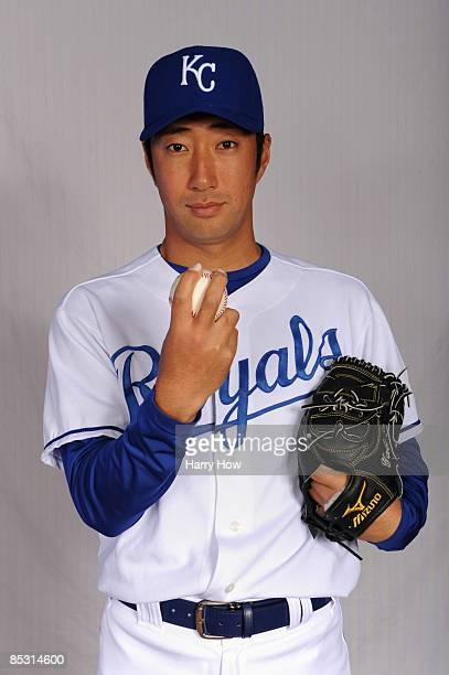 Yasuhiko Yabuta of the Kansas City Royals poses during photo day at Surprise Stadium on February 22 2009 in Surprise Arizona
