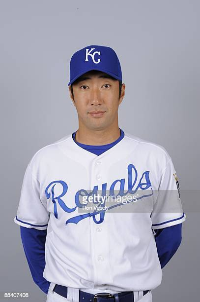 Yasuhiko Yabuta of the Kansas City Royals poses during Photo Day on Sunday February 22 2009 at Surprise Stadium in Surprise Arizona