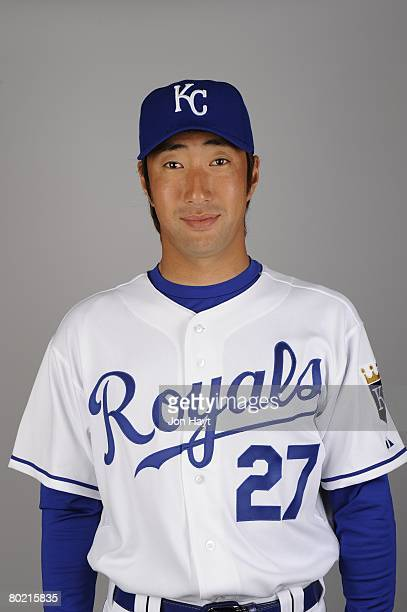 Yasuhiko Yabuta of the Kansas City Royals poses for a portrait during photo day at Surprise Stadium on February 25 2008 in Surprise Arizona