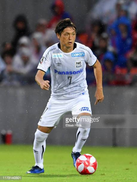 Yasuhito Endo of Gamba Osaka in action during the J.League Levain Cup quarter final second leg match between FC Tokyo and Gamba Osaka at NACK 5...