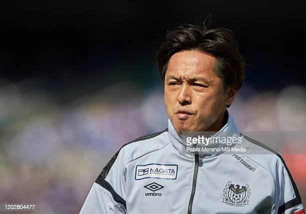 Yasuhito Endo of Gamba Osaka looks on prior the J.League MEIJI YASUDA J1 match between Yokohama F.Marinos and Gamba Osaka at Nissan Stadium on...