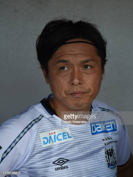 Yasuhito Endo of Gamba Osaka looks on prior to the J.League Levain Cup quarter final second leg match between FC Tokyo and Gamba Osaka at NACK 5...
