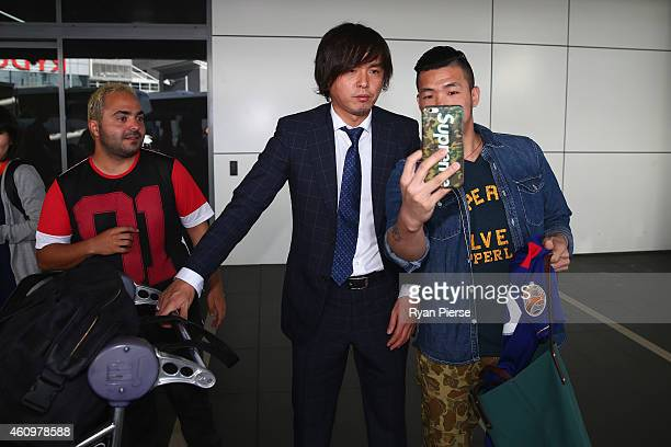 Yasuhito Endo of Japan arrives ahead of the 2015 Asian Cup at Sydney International Airport on January 3 2015 in Sydney Australia