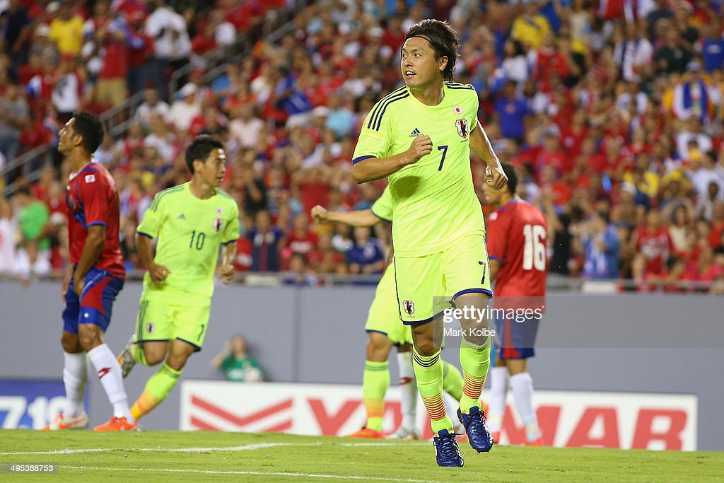 Yasuhito Endo of Japan celebrates scoring a goal during the International Friendly Match between Japan and Costa Rica at Raymond James Stadium on June 2, 2014 in Tampa, Florida.