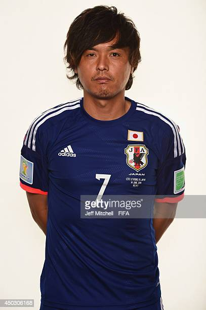 Yasuhito Endo of Japan poses during the official Fifa World Cup 2014 portrait session on June 8 2014 in Sao Paulo Brazil