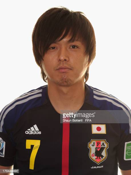 Yasuhito Endo of Japan poses for a portrait at the Kubistchek Plaza Hotel on June 13 2013 in Brasilia Brazil