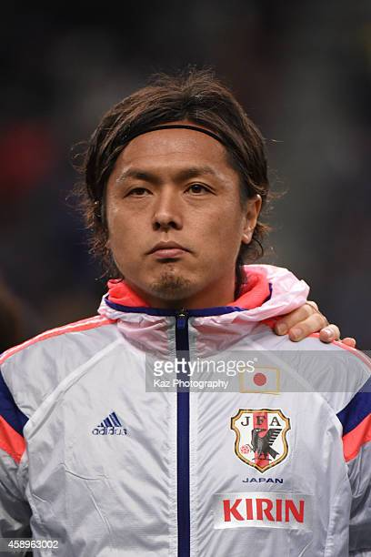 Yasuhito Endo of Japan returns to the natioanal squad first time after Brazil World Cup during the international friendly match between Japan and...