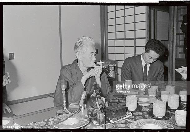 Yasunari Kawabata winner of the 1968 Nobel Prize in Literature smiles during a press conference The 69yearold Japanese novelist is the first Japanese...